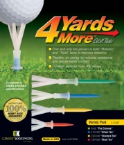 4 Yards More Golf Tee (Variety Pack)