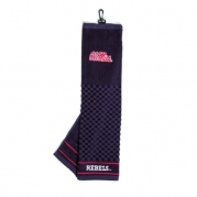 NCAA Mississippi Embroidered Team Golf Towel