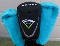 Ladies Callaway Golf Headcover Set for Driver & Woods Black & Teal Colors Womens Covers Head Cover Golf Equipment Accessories