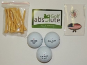 48 Top-Flite Recycled Balls With Mesh Bag and Free Tee's and Bonus Magnetic American Flag Golf Ball Marker/Hat Clip