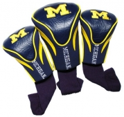 NCAA Michigan Wolverines 3 Pack Contour Golf Club Headcover