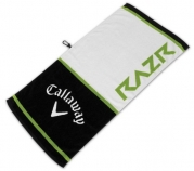 Callaway RAZR Tour Authentic Towel, White/Black/Green