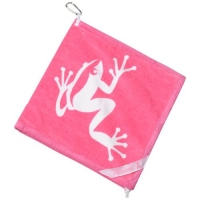 Frogger Amphibian Golf Towel (4 Colors Available) (Pink)