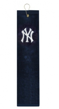 New York Yankees Embroidered Tri-Fold Golf Towel