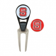 NCAA North Carolina State CVX Golf Ball Mark Repair Tool and 2 Ball Markers