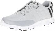 adidas Men's Crossflex Golf Shoe,Light Gray/Black/White,9 M US