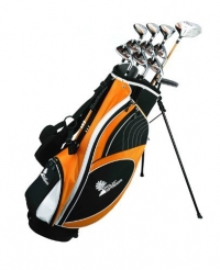 Palm Springs Golf VISA Mens +1 TALL GRAPHITE & STEEL Club Set & Stand Bag