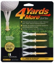 4 Yards More Golf Tee - 2 3/4 - Yellow (4 Tees)
