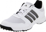 adidas Men's Tech Response 4.0 Golf Shoe,White/White/Dark Silver Metallic,11 M US