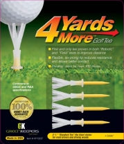 4 Yards More Golf Tee (Standard Yellow, 2 3/4-Inch)