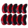 HDE 10pc Neoprene Golf Iron Club See Through Window Head Cover Protection Case Set (Red) - for Taylormade, Nike, Callaway, etc.