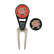NCAA Maryland CVX Golf Ball Mark Repair Tool and 2 Ball Markers