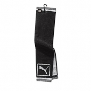 Puma Tri-Fold Club Towel - Black