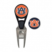 Auburn Tigers CVX Golf Ball Mark Repair Tool and 2 Ball Markers