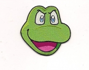 Konami Frogger Big Face Character Green Embroidered Patch
