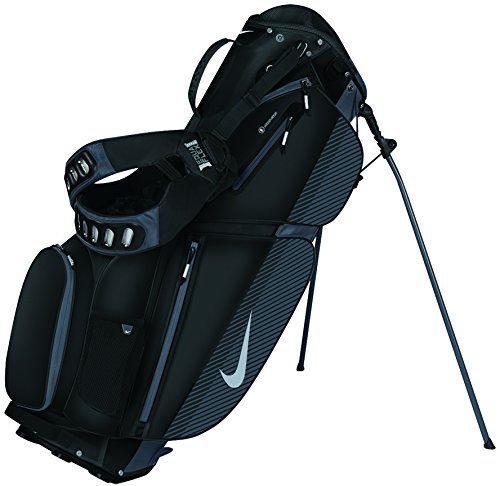 Nike Air Sport Stand Golf Bag Black Silver Dark Grey